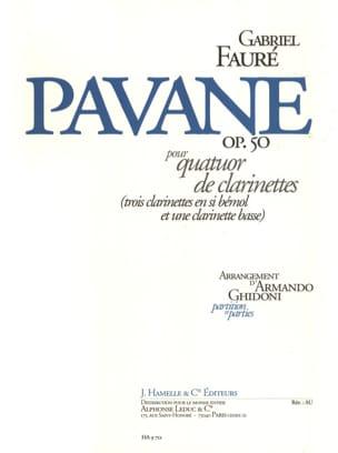 Pavane op. 50 - quatuor clarinettes FAURÉ Partition laflutedepan