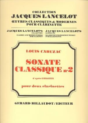 Sonate classique n° 2 - Louis Cahuzac - Partition - laflutedepan.com