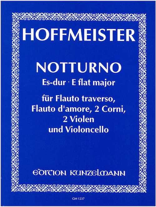 Notturno Es-Dur - Partitur + Stimmen - HOFFMEISTER - laflutedepan.com