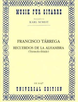 Recuerdos de la Alhambra TARREGA Partition Guitare - laflutedepan