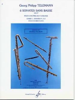 6 Sonates sans Basse Op. 2 Cahier 1 TELEMANN Partition laflutedepan