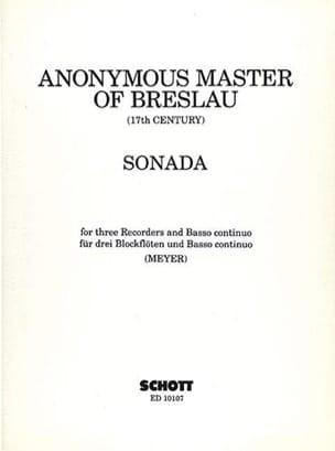 Sonada -3 Blockflöten und BC Partition Quatuors - laflutedepan