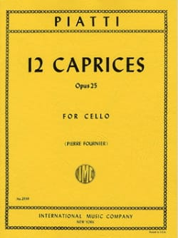 12 Caprices op. 25 Alfredo C. Piatti Partition laflutedepan