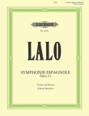 Symphonie espagnole op. 21 Menuhin LALO Partition laflutedepan