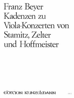 Kadenzen zu Viola-Konzerten Franz Beyer Partition Alto - laflutedepan