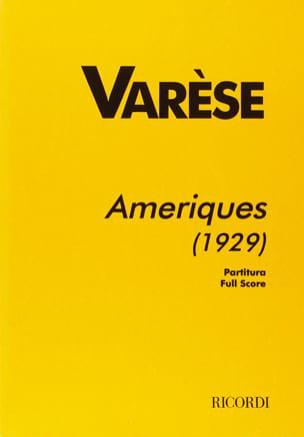 Amériques 1929 - Partitur Edgard Varèse Partition laflutedepan