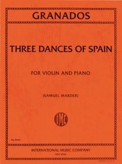 3 Dances Of Spain GRANADOS Partition Violon - laflutedepan