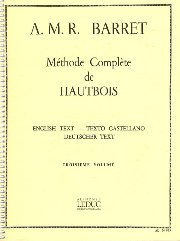 Méthode Complète de Hautbois Volume 3 - laflutedepan.com