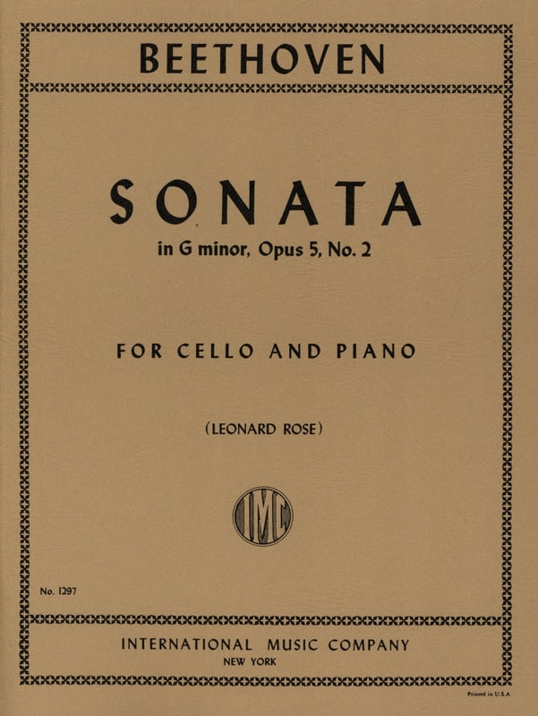 Sonata in G minor op. 5 n° 2 - BEETHOVEN - laflutedepan.com