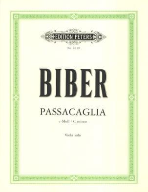 Passacaglia C-Moll - Viola BIBER Partition Alto - laflutedepan