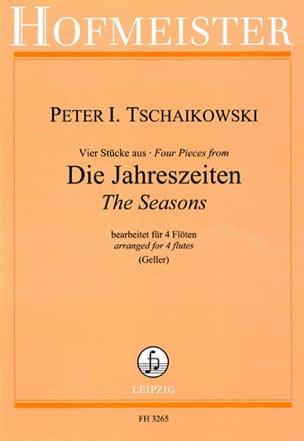 Les Saisons - 4 Flûtes TCHAIKOVSKY Partition laflutedepan