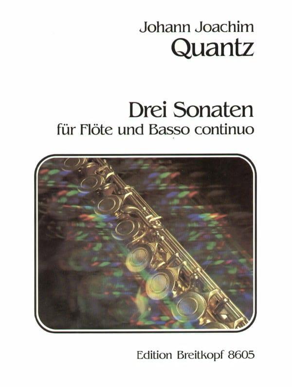 3 Sonaten - Flöte und Bc - QUANTZ - Partition - laflutedepan.com
