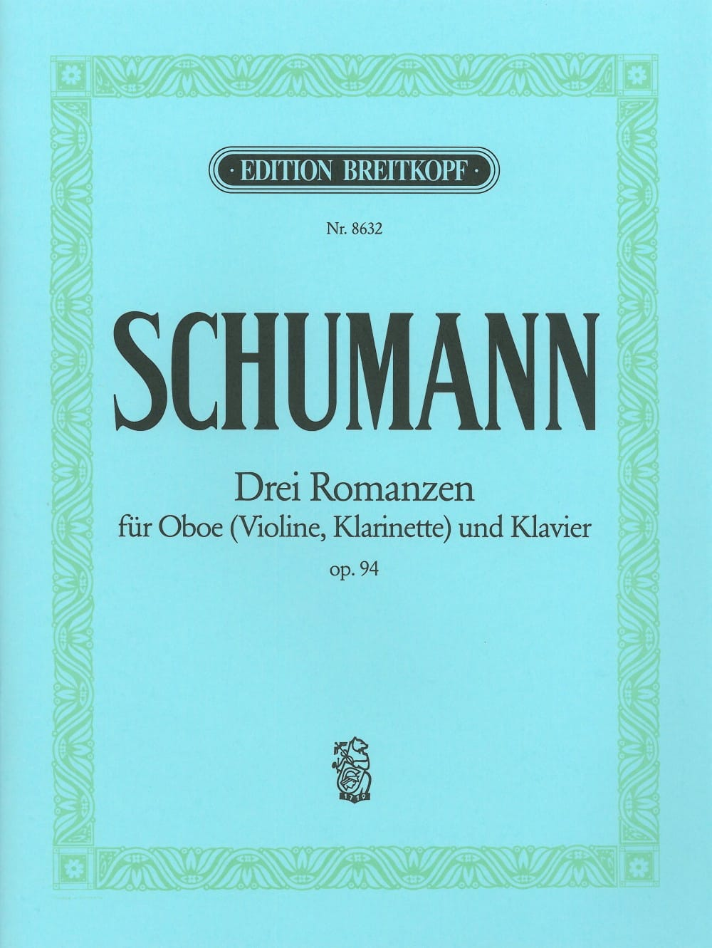 3 Romanzen op. 94 -Oboe Violine, Klarinet Klavier - laflutedepan.com