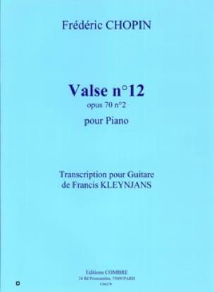 Valse n° 12 op. 70 n° 2 -Guitare - CHOPIN - laflutedepan.com
