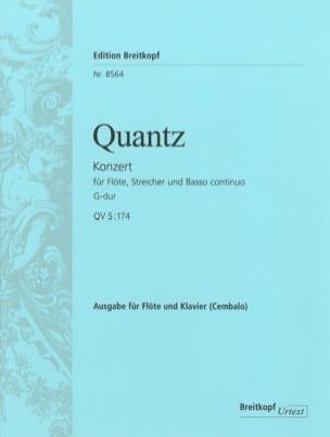 Flötenkonzert G-Dur QV 5: 174 - Flöte Klavier QUANTZ laflutedepan
