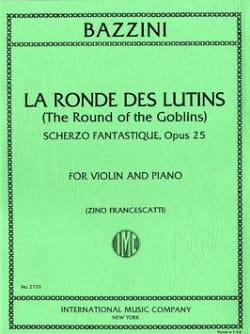 La Ronde des Lutins Opus 25 Antonio Bazzini Partition laflutedepan