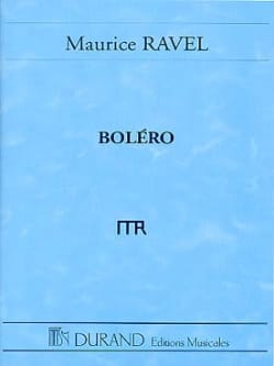Boléro - Conducteur RAVEL Partition Grand format - laflutedepan
