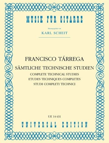 Sämtliche Technische Studien - TARREGA - Partition - laflutedepan.com