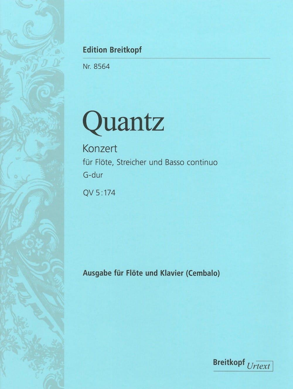 Flötenkonzert G-Dur QV 5: 174 - Flöte Klavier - laflutedepan.com