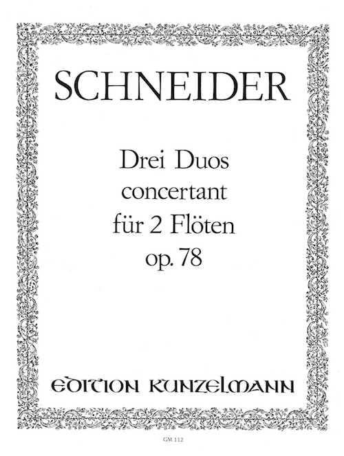 3 Duos concertants op. 78 - Flöten - laflutedepan.com