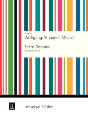 6 Sonatas Volume 1 MOZART Partition Flûte traversière - laflutedepan