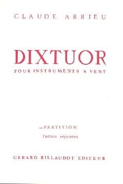Dixtuor - Instr. vents Claude Arrieu Partition laflutedepan