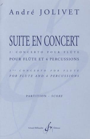 Suite en concert - Conducteur André Jolivet Partition laflutedepan