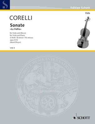 Sonate d-Moll, op. 5 n° 12 CORELLI Partition Alto - laflutedepan
