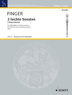 2 Leichte Sonaten - Altblockflöte u. BC Gottfried Finger laflutedepan