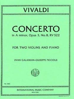 Concerto A minor op. 3/8 RV 522 VIVALDI Partition Trios - laflutedepan