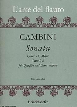 Sonata C-Dur - Livre I, 4 - Flöte und Bc - laflutedepan.com