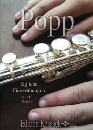 Tägliche Fingerübungen Op. 413 Bd. 1 - Flöte Wilhelm Popp laflutedepan
