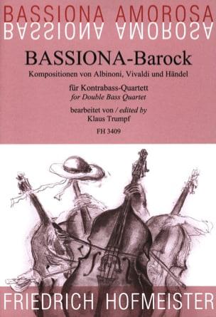 Bassiona-Barock HAENDEL Partition Contrebasse - laflutedepan