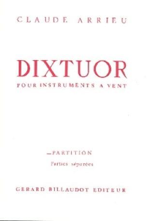 Dixtuor - Instr. vents - Claude Arrieu - Partition - laflutedepan.com