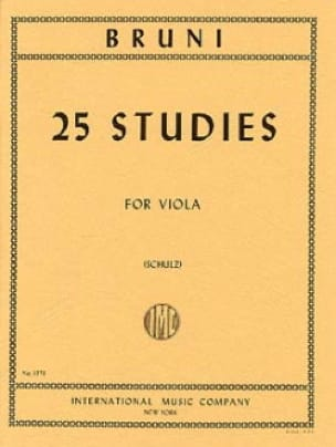 25 Studies - Antonio Bartolomeo Bruni - Partition - laflutedepan.com