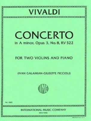 Concerto A minor op. 3/8 RV 522 - VIVALDI - laflutedepan.com