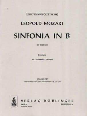Sinfonia B-Dur für Streicher - Leopold Mozart - laflutedepan.com