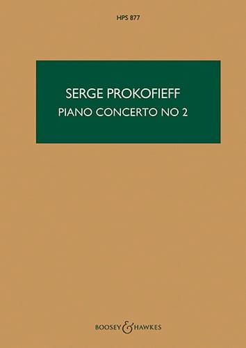 Concerto Piano n° 2 op. 16 - Score - PROKOFIEV - laflutedepan.com