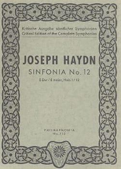 Symphonie Nr. 12 E-Dur Hob. 1 : 12 - Partitur - laflutedepan.com
