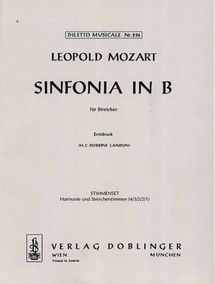 Sinfonia B-Dur für Streicher Leopold Mozart Partition laflutedepan