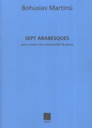 Bohuslav Martinu - 7 Arabesques - Partition - di-arezzo.co.uk