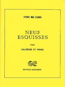 9 Esquisses Pierre-Max Dubois Partition Hautbois - laflutedepan