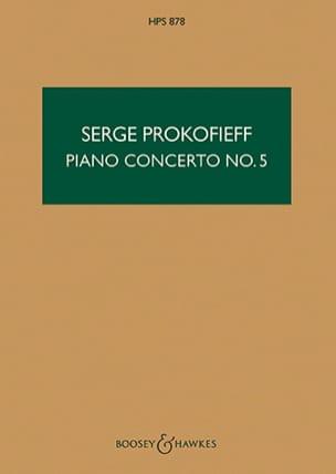 Serge Prokofiev - Concierto Piano n ° 5 op. 55 - Puntuación - Partition - di-arezzo.es