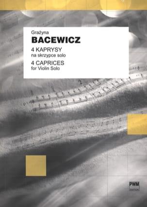 4 Kaprysy Grazyna Bacewicz Partition Violon - laflutedepan