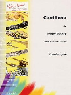 Cantilena Roger Boutry Partition Violon - laflutedepan