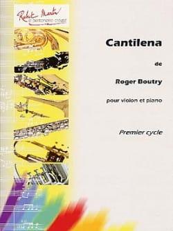 Cantilena Roger Boutry Partition Violon - laflutedepan