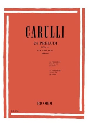 24 Préludes Opus 114 Ferdinando Carulli Partition laflutedepan