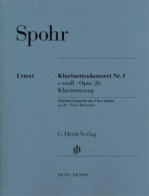 Concerto pour Clarinette n° 1 SPOHR Partition laflutedepan