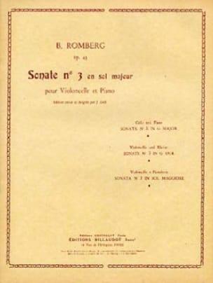 Sonate n° 3 en sol majeur op. 43 - ROMBERG - laflutedepan.com