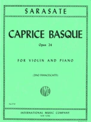 Caprice basque op. 24 - SARASATE - Partition - laflutedepan.com